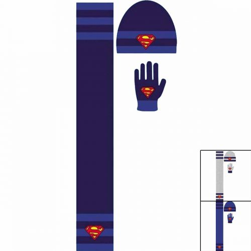 Beanies glove scarf Superman
