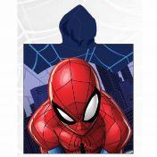 Asciugamano poncho con cappuccio Spiderman 55x110