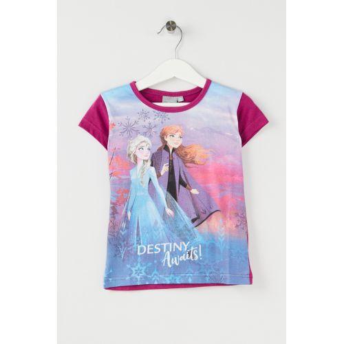 T-shirt manches courtes La Reine des Neiges du 3 au 8 ans