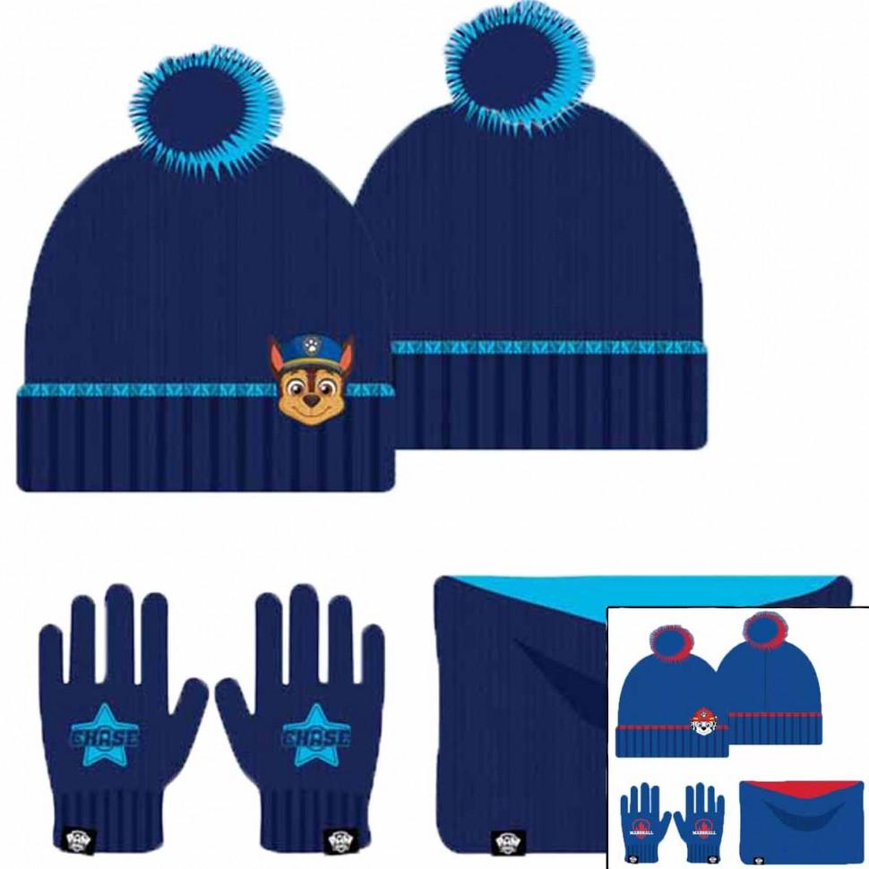 Bonnet gant cache cou Paw Patrol