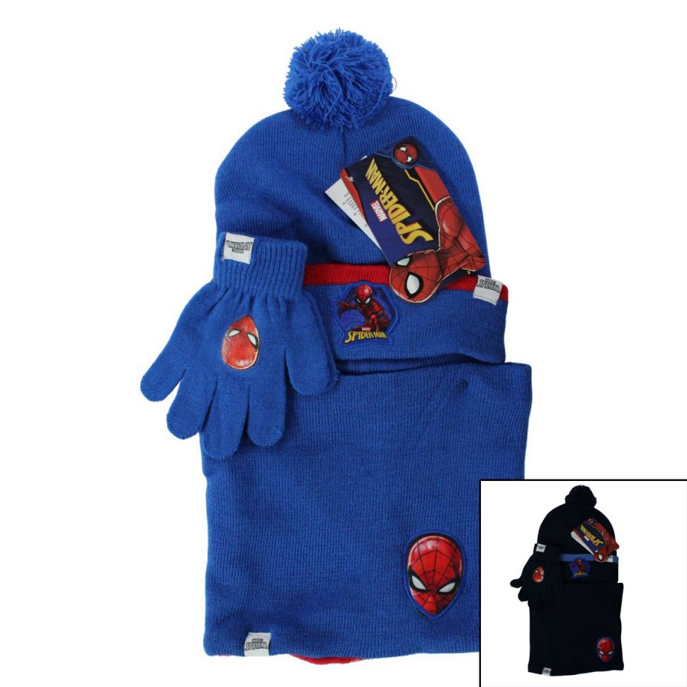 Spiderman Muts met Nek warmer en handschoen