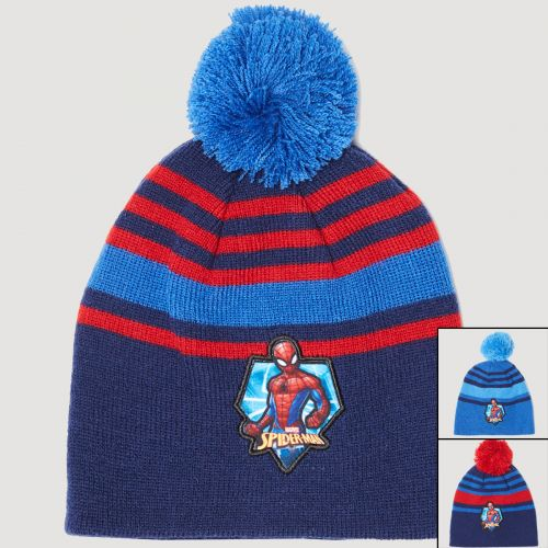 Spiderman Hat with pompom