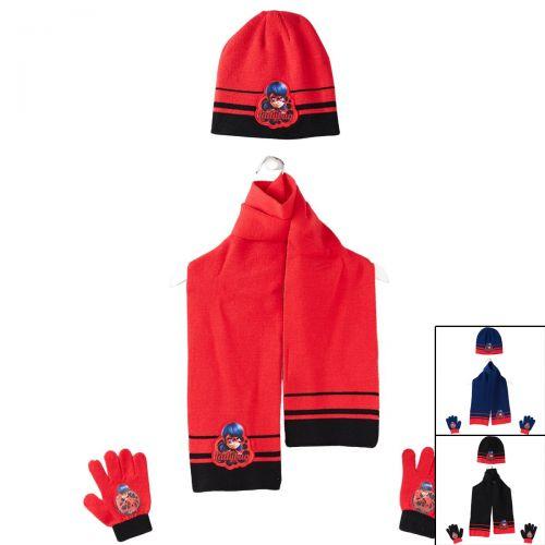 Ladybug Beretto con sciarpa e guanti