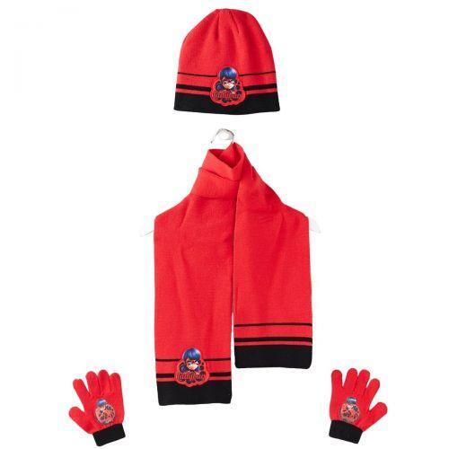Ladybug Muts met sjaal en handschoen