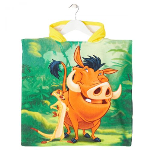 The Lion King Poncho towel with a hood