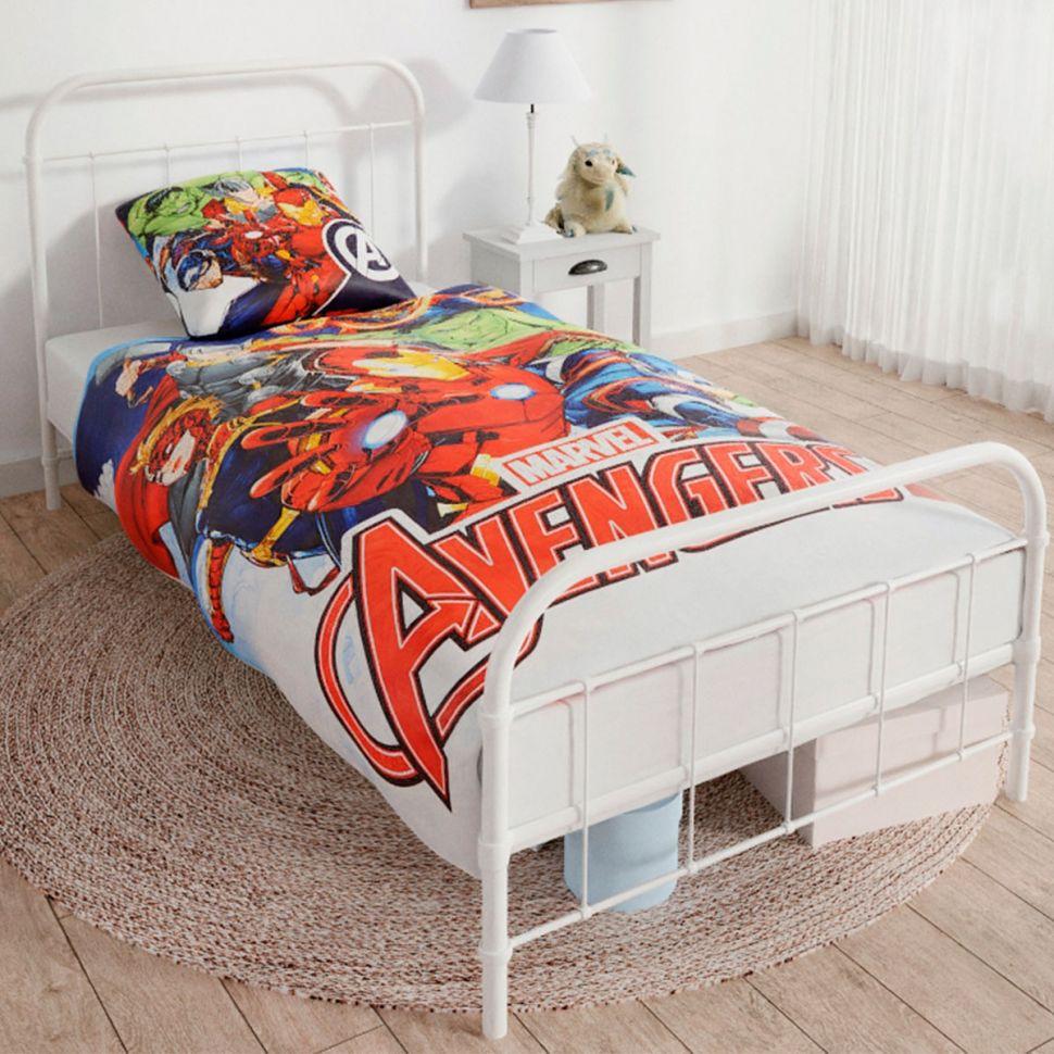 Housse de couette + taie d'oreiller Avengers