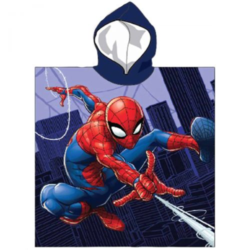 Spiderman Poncho towel with a hood