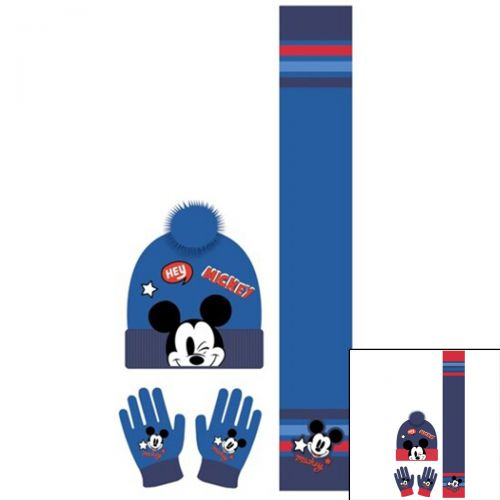 Mickey Beretto con sciarpa e guanti