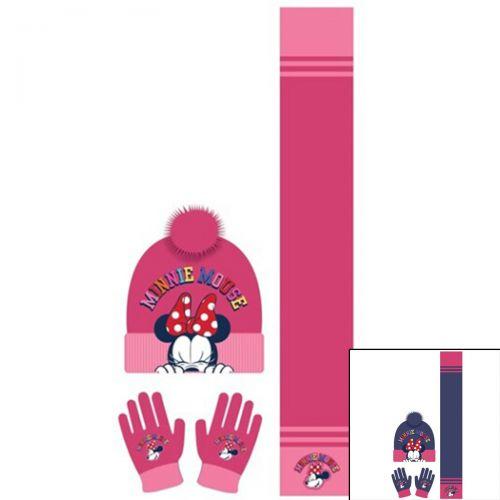 Minnie Beretto con sciarpa e guanti