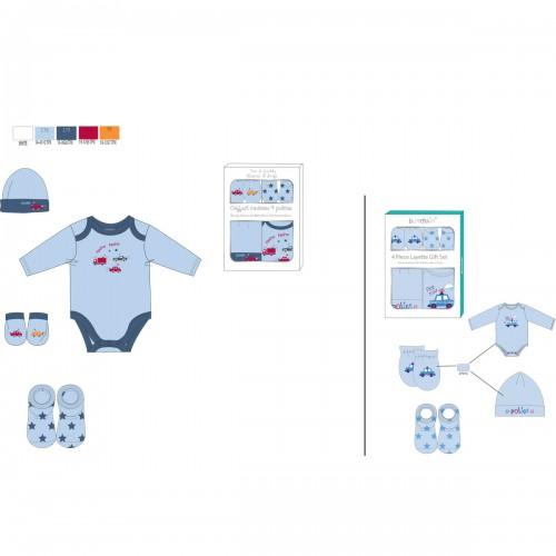 Scatola di nascita 4 vestiti Tom Kids 6 mesi